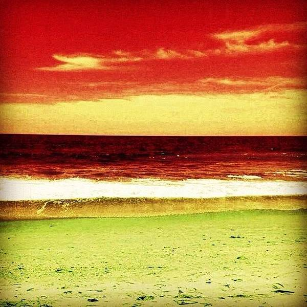 Beautiful Art Print featuring the photograph #myrtlebeach #ocean #colourful by Katie Williams