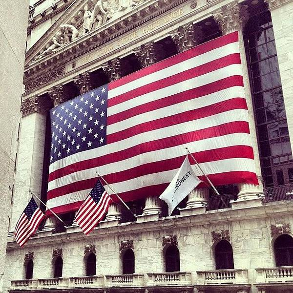 Europe Art Print featuring the photograph New York Stock Exchange/wall Street by Randy Lemoine