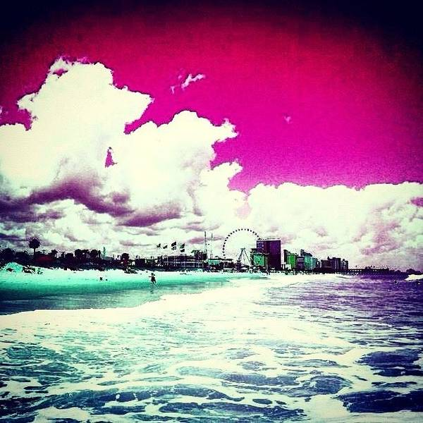 Beautiful Art Print featuring the photograph Pic Redo #beach #summer #prettycolors by Katie Williams