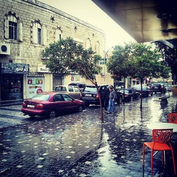 Raining Art Print featuring the photograph Rainbow Street #amman #jo #jordan by Abdelrahman Alawwad