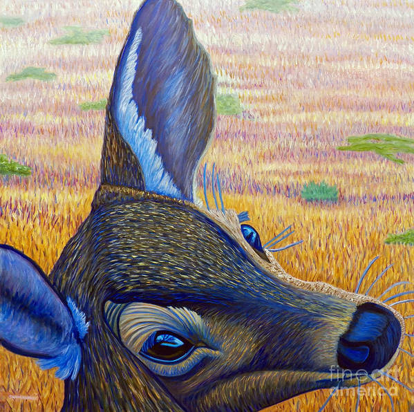 Deer Art Print featuring the painting Serendipity by Brian Commerford
