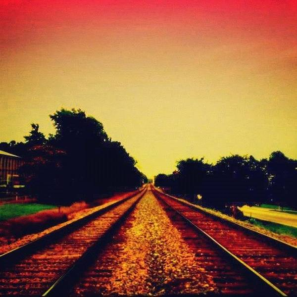 Danger Art Print featuring the photograph Train Tracks by Katie Williams