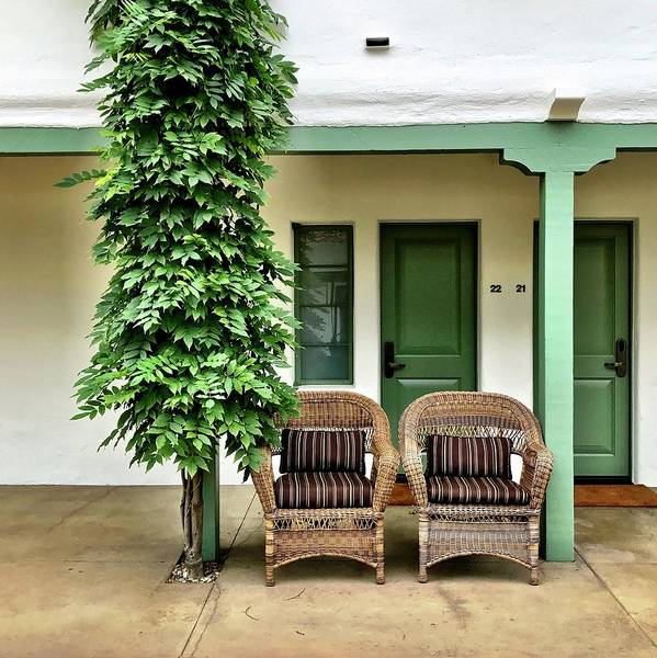 Art Print featuring the photograph Two Chairs by Julie Gebhardt