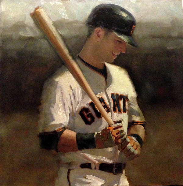 Buster Posey Art Print featuring the painting Untitled 2 by Darren Kerr