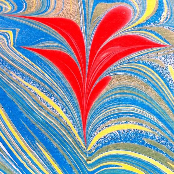 Flower Art Print featuring the painting Water Marbling Art, Ebru by Dilan C