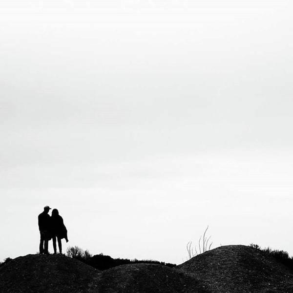 Art Print featuring the photograph A Couple Looking At Amerika Mines Near by Eva Dobrikova