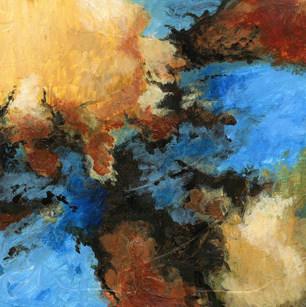Abstract Art Print featuring the painting A Precious Few Abstract by Karla Beatty