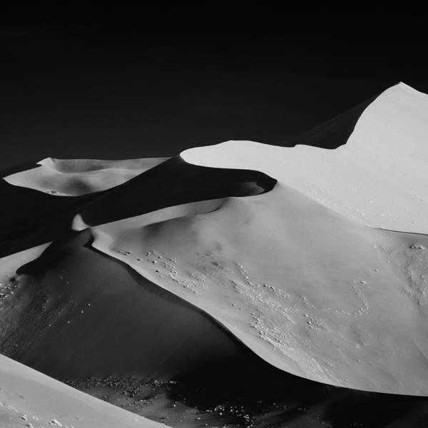 Art Print featuring the photograph Abstract Dunes by Mathilde Guillemot