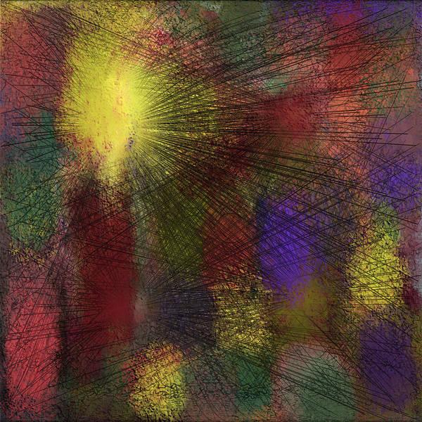 Digital Art Print featuring the digital art Abstraktion in Farben by Ilona Burchard