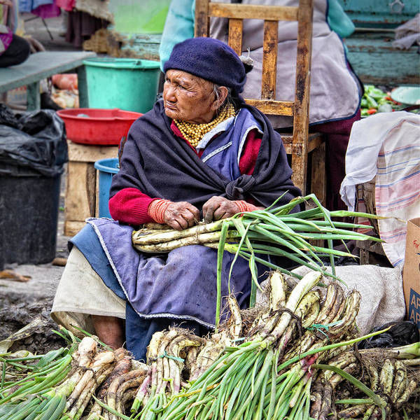 Ecuador Art Print featuring the photograph Another Day at the Market by Marla Craven