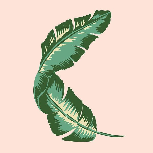 Leaf Art Print featuring the digital art Banana Leaf Square Print by Lauren Amelia Hughes