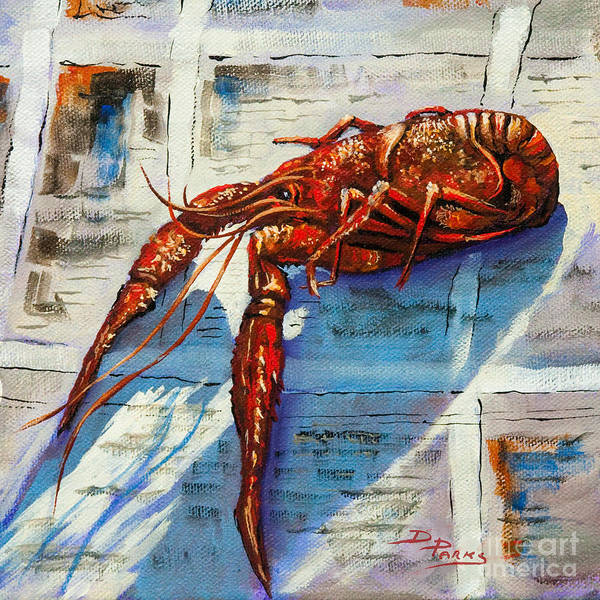 Louisiana Crawfish Art Print featuring the painting Big Red by Dianne Parks