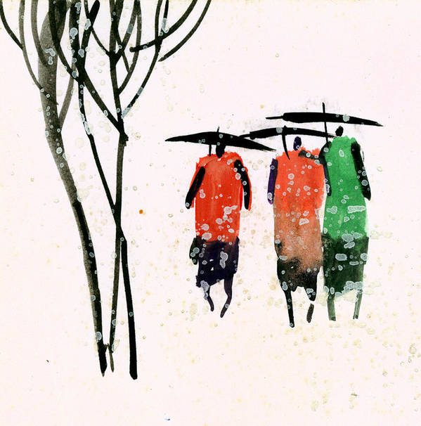 People Art Print featuring the painting Buddies 3 by Anil Nene