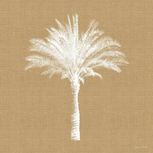 Palm Tree Art Print featuring the mixed media Burlap Palm Tree- Art by Linda Woods by Linda Woods