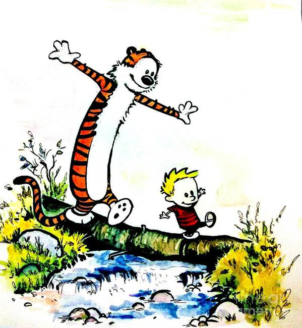 Calvin and Hobbes by Sai Priya Mahajan