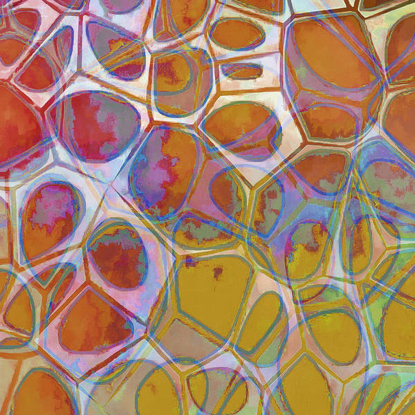 Painting Art Print featuring the painting Cell Abstract 14 by Edward Fielding