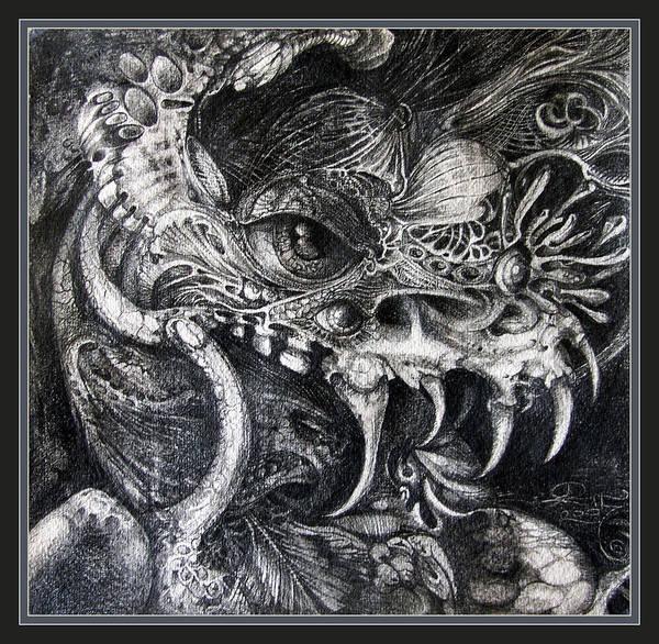 Art Print featuring the drawing Cherubim Of Beasties by Otto Rapp