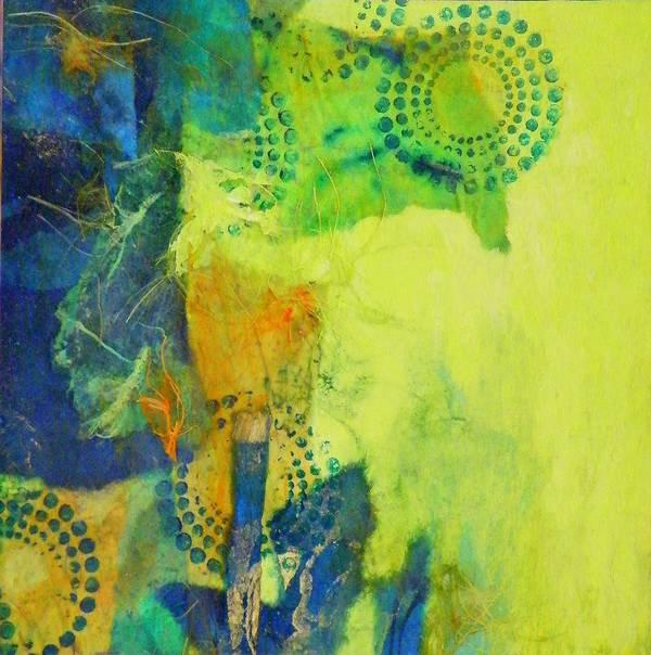 Mixed Media Art Print featuring the painting Circles 2 by Tara Milliken
