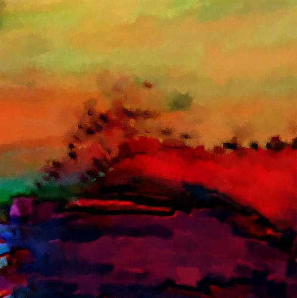 Digital Art Print featuring the digital art Colors in Aquarell by Ilona Burchard
