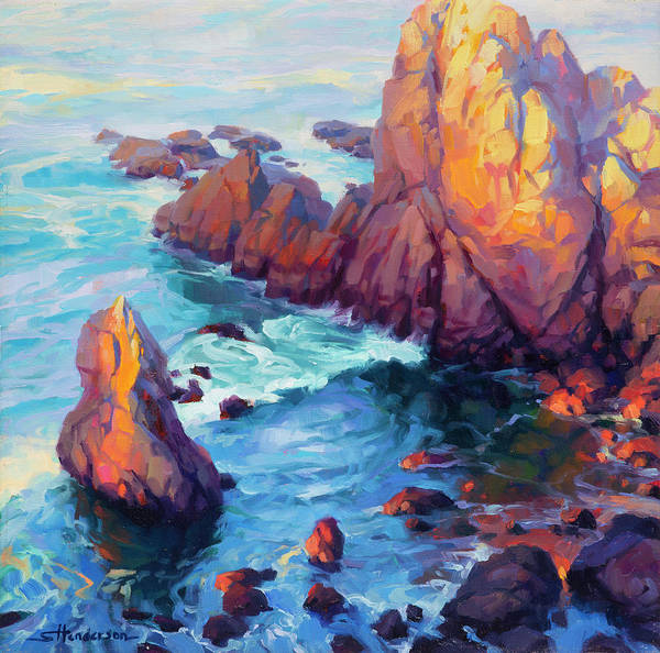 Ocean Art Print featuring the painting Convergence by Steve Henderson
