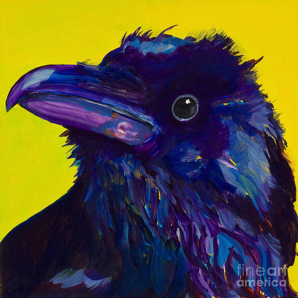 Bird Art Print featuring the painting Corvus by Pat Saunders-White