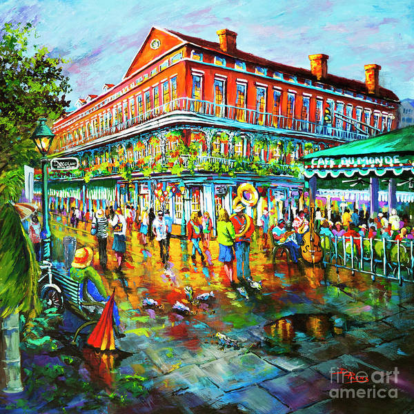 New Orleans Art Art Print featuring the painting Decatur Evening by Dianne Parks