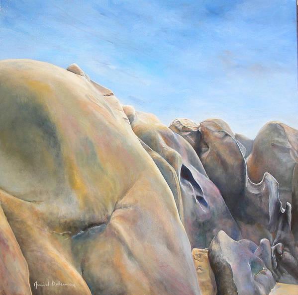Landscape Art Print featuring the painting Desert by Muriel Dolemieux