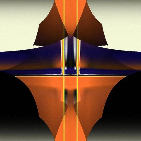 Digital Art Print featuring the digital art Digital Abstract 5 by Ilona Burchard