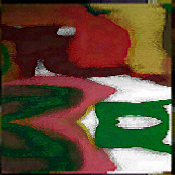 Digital Art Print featuring the digital art Digital Abstract 7 by Ilona Burchard
