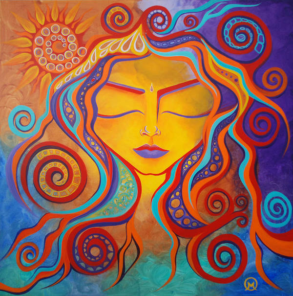 Abstract Art Print featuring the painting Divine Transcendence by Michelle Oravitz