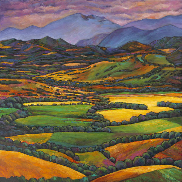 European Landscape Art Print featuring the painting Draped in a Dream by Johnathan Harris
