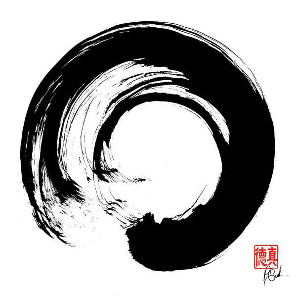 Size and Frame Options Buddhism Enso Zen Circle Spiritual Meditation Art Print