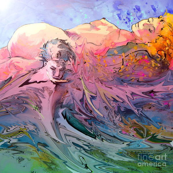 Miki Art Print featuring the painting Eroscape 10 by Miki De Goodaboom