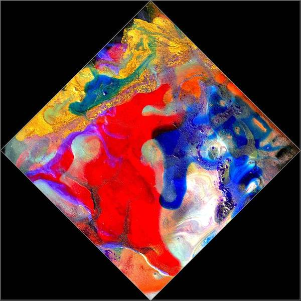 Abstract Art Print featuring the painting Evolution Series 1007 by Dina Sierra
