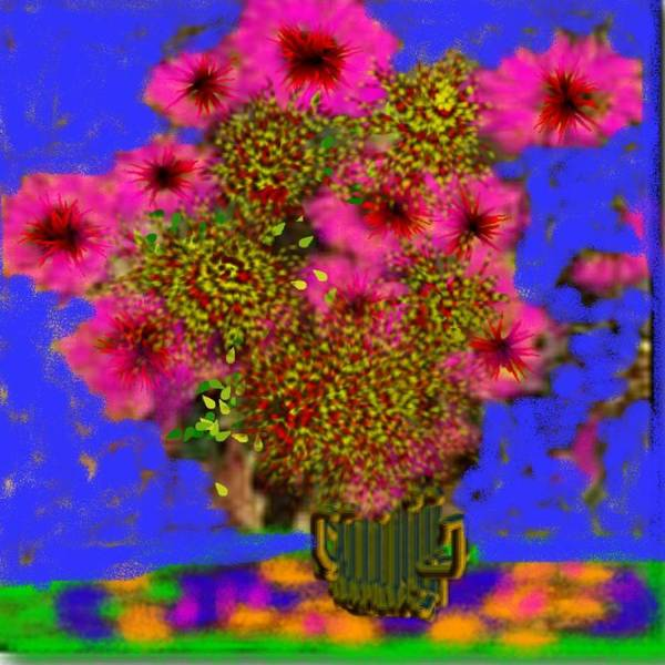 Flowers Art Print featuring the digital art Flowers on the table by Dr Loifer Vladimir