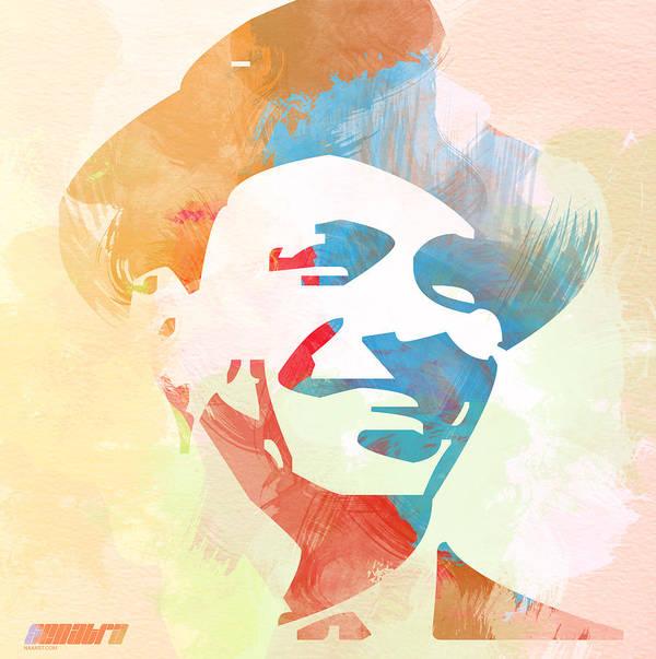 Frank Sinatra Art Print featuring the painting Frank Sinatra by Naxart Studio