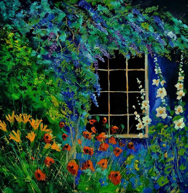 Flowers Art Print featuring the painting Garden 88 by Pol Ledent