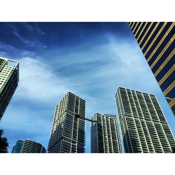 Building Art Print featuring the photograph High Rise Buildings On Brickell, Miami by Juan Silva