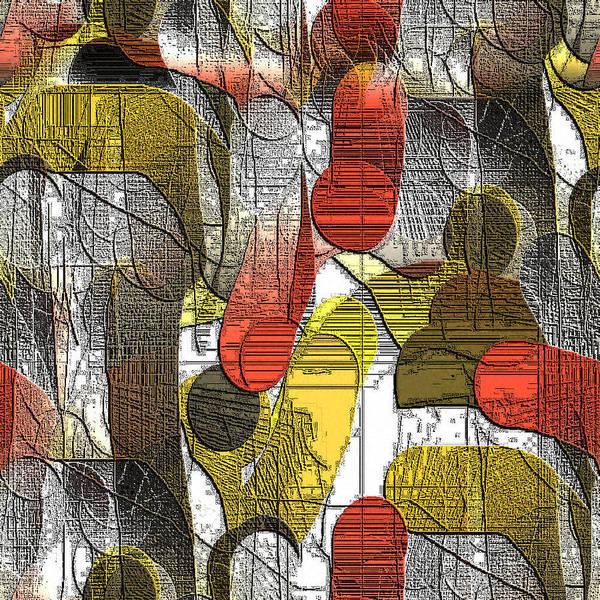 Digital Art Print featuring the digital art Holzschnitt 3 by Ilona Burchard
