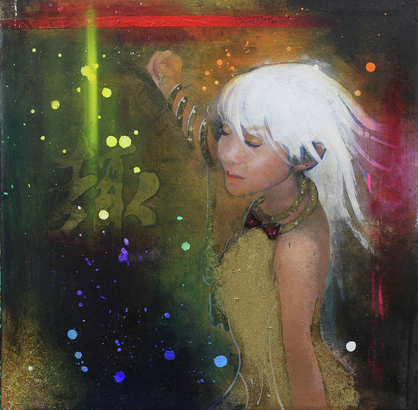 Girl Art Print featuring the painting I'm just a passenger by Michael Andrew Law Cheuk Yui