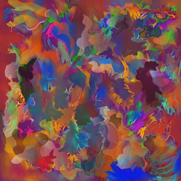Abstract Art Print featuring the painting Level 4 Matrix by Peter Shor