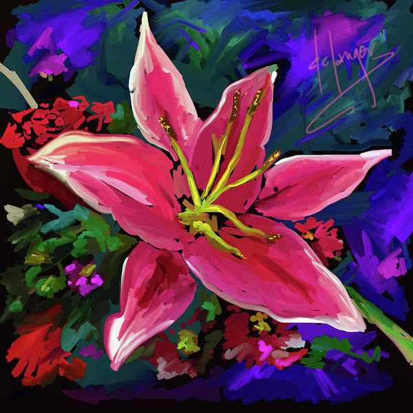 Lily Art Print featuring the painting Lily by DC Langer