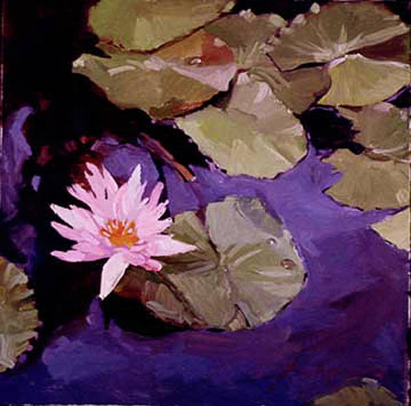 Water Lily Paintings Art Print featuring the painting Lily Pad by Betty Jean Billups