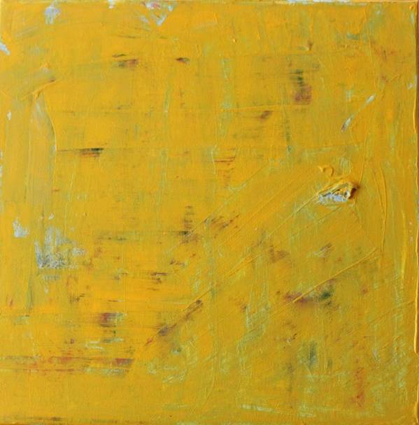 Yellow Art Print featuring the painting Little Dab Will Do Ya by Pam Roth O'Mara