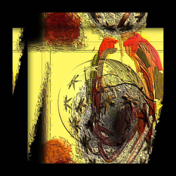 Digital Art Print featuring the digital art Love Serie by Ilona Burchard