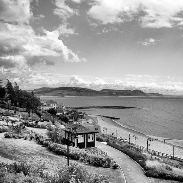 Blackandwhitephotography Art Print featuring the photograph Lyme Regis And Lyme Bay, Dorset by John Edwards