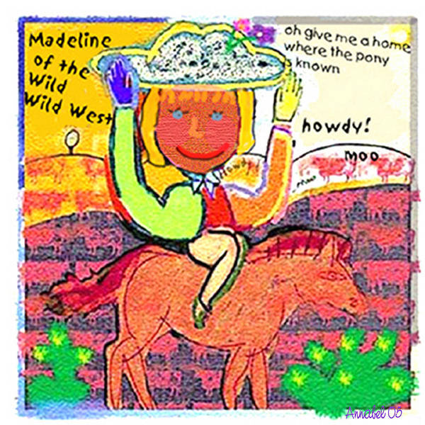 Humorous Art Print featuring the digital art Madeline by Annabel Lee