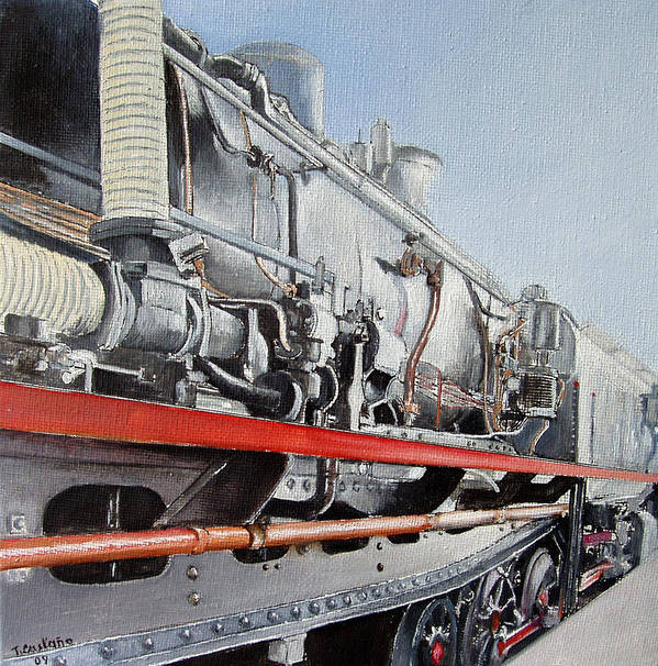 Train Art Print featuring the painting Maquina de Vapor by Tomas Castano