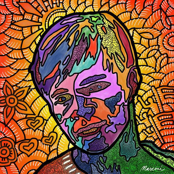 Matthew Shepard Art Print featuring the digital art Matthew Shepard A Friend by Marconi Calindas
