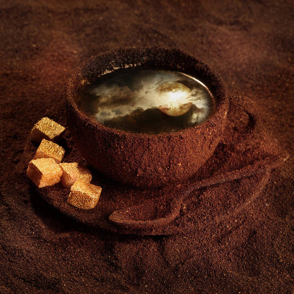 Coffee Art Print featuring the photograph Milky moonlight by Floriana Barbu